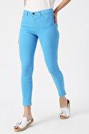 Koton Kadın Mavi Pantolon
