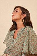 TRENDYOLMİLLA Çok Renkli Volanlı Gömlek TWOSS20GO0296