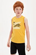 Defacto Erkek Çocuk Fearless Baskılı Atlet
