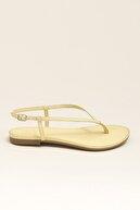 Elle MANISHA Hakiki Deri Sarı Kadın Sandalet