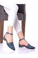 LAYRA AYAKKABI Kadın Mavi Delikli Sandalet