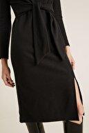 Marks & Spencer Kadın Siyah Kemer Detaylı Shift Elbise T42004288