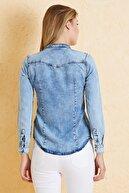 Twister Jeans Kadın Slim Fit Gömlek Bg 810-02 (T-Y) 02