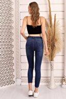 RenklyModa Özel Tasarım, Full Likralı, Yüksek Bel, Vücudu Saran, Toparlayıcı, Yumuşak Kumaş Kot Pantolon