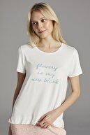 Penti Beyaz Bloom Tişört