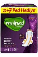 Molped Süper Night Hijyenik Ped Dev Eko Avantaj Pk Toplam 74 Adet (Gece+uzun+süper Gece)