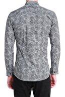 Efor G 1384 Slim Fit Siyah-beyaz Spor Gömlek