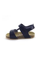 Minipicco Erkek Çocuk Lacivert Deri Ortopedik Sandalet