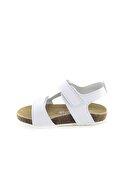 Minipicco Erkek Çocuk Beyaz Deri Ortopedik Sandalet