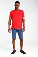 Collezione Kırmızı Erkek Kırmızı Spor Regular Kısa Kol T-shirt
