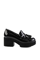 Bambi Siyah Kadın Loafer Ayakkabı M05340700
