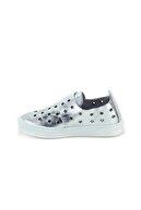 Minipicco Unisex Çocuk Gümüş Deri Ortopedik Ayakkabı