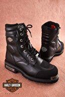Harley Davidson Riddick Black Deri Erkek Bot