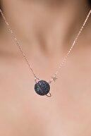 Elika Silver Kadın Gezegen Model Rose Kaplama 925 Ayar Gümüş Kolye