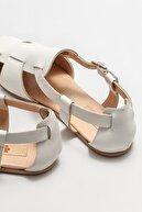 Elle Kadın Bej Deri Düz Ayakkabı