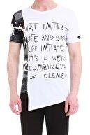 Efor Atş 013 Slim Fit Beyaz Spor T-shirt