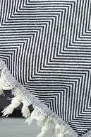 LADYNİL Çift Kişilik Throw Zümrüt Yatak Ve Koltuk Örtüsü Siyah 200x230