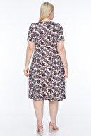 SENTEX Kısa Kollu Desenli Geniş Elbise