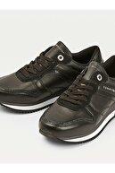 Tommy Hilfiger Kadın Siyah Sneaker Corporate Femınıne Cıty Sneaker FW0FW05233