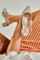 Bambi Taş Süet Kadın Klasik Topuklu Ayakkabı K01503721072