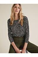Marks & Spencer Desenli Relaxed Bluz