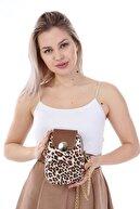 ELASİNYA Kadın Leopar Telefon Bölmeli Omuz Çantası 0047 0073