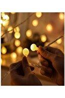 BİDOLUMUTLULUK 4 Metre 28' Li Led Işıklı Ampul Top Dizeleri