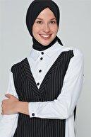 Armine Çizgili Gömlek 20ka4312 Beyaz