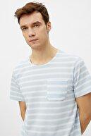 Koton Erkek Mavi T-Shirt 1YAM12320OK
