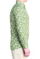 Efor G 1386 Slim Fit Yeşil Spor Gömlek