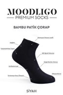 Moodligo Erkek Siyah Premium 6lı Bambu Patik Çorap