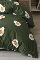 Zeynep Tekstil Avocado %100 Pamuk Ranforce Çift Kişilik Avakado Nevresim Seti