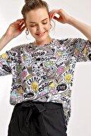 Bigdart 4124 Grafik Desen Oversize T-shirt
