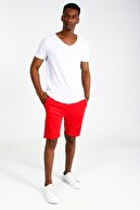 Collezione Beyaz Erkek Sıyah Spor Regular Kısa Kol T-shirt