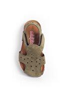 Minipicco Unisex Çocuk Haki Deri Ortopedik Sandalet