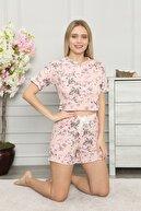 ARCAN Patlı Fiyonk Detaylı Çiçek Desenli Pijama Takımı 1610-37