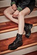 Bambi Siyah Küçük Pullu Kadın Bot & Bootie K0512111156