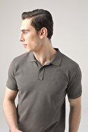 D'S Damat Regular Fit Antrasit Pike Dokulu T-shirt