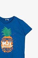 Koton Koton Mavi Erkek Çocuk T-shirt 0ykb16053ok
