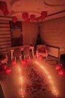 Parti Dolabı 50 Kalp Mum, 25 Kalp Balon, 500 Gül Yaprağı, 300 Kuru Gül, 1 Balon Pompası Evlilik Teklifi Paket Set
