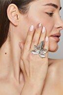 ZeyDor Accessories Zeydor Antik Gümüş Kaplama Çınar Tasarım Yüzük
