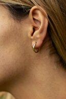 Bayar Gold Kadın Sarı Altın Mini Kare Şarnel Küpe