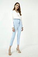 Vis a Vis Kadın Bebe Mavi Kuşaklı Yüksek Bel Pantolon
