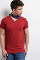 Rodi Jeans Rodi Rd19ye279973 Bordo Erkek Lycra Süprem V Yaka T-shirt