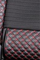 Stil Ford Focus 2 Lüks Deri Oto Koltuk Kılıfı Ön/arka Set Siyah Kırmızı