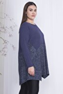 Şans Kadın İndigo İki Renkli Cep Detaylı Tunik 65N19685