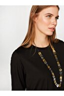 Faik Sönmez Kadın Yuvarlak Yaka Uzun Kol T-shirt