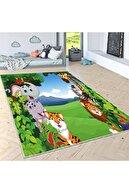 Estela Sevimli Hayvanlar Alemi V2 Desen Çocuk Odası Halısı