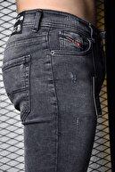 Lose Jeans Erkek Füme Skinny Fit Tırnaklı Bilek Boy Pantolon