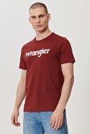 Wrangler Erkek Bordo Regular Fit Bisiklet Yaka T-Shirt